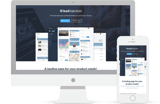 Application Landing Page Demo