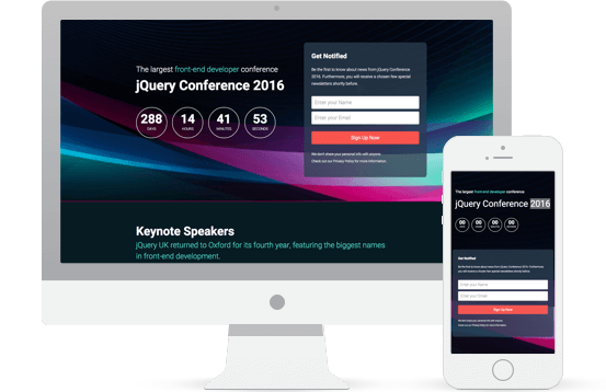 Conference Landing Page Demo