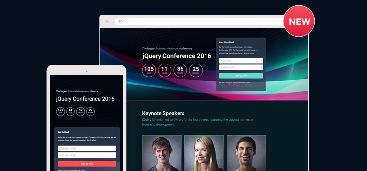 Conference Landing Page Wordpress