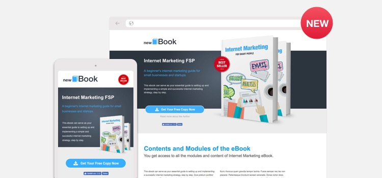 Leadinjection EBook Landing Page Template For WordPress