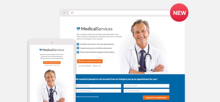 Medical Landing Page Wordpress