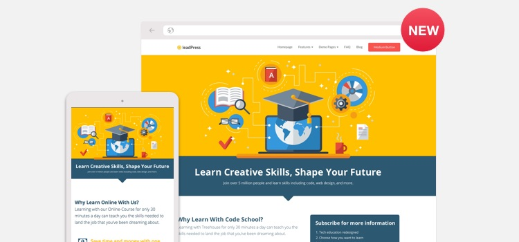 Online Course Landing Page Wordpress