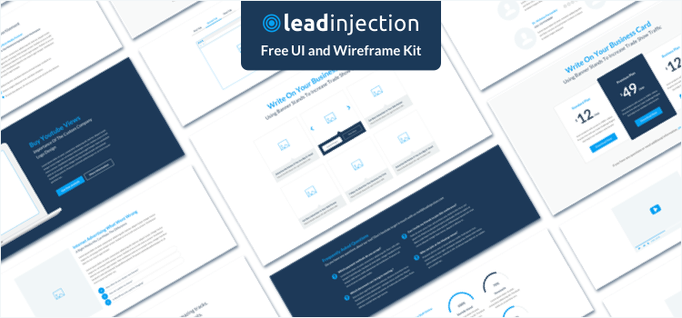 Leadinjection Ui and Wireframe Kit