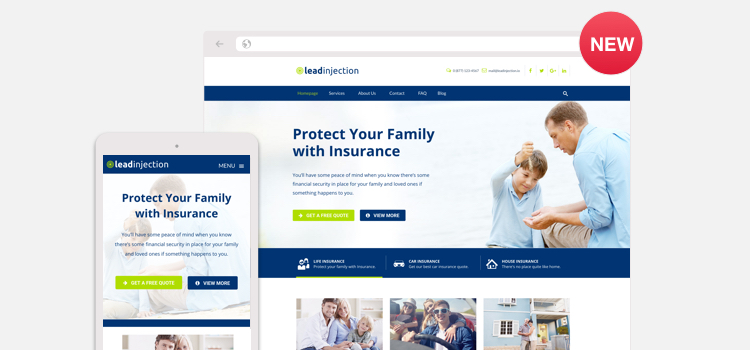 Insurance Agency and Broker Landing Page