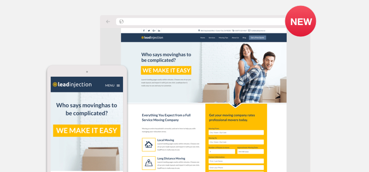 Move - Landing Page Template for Moving Companies